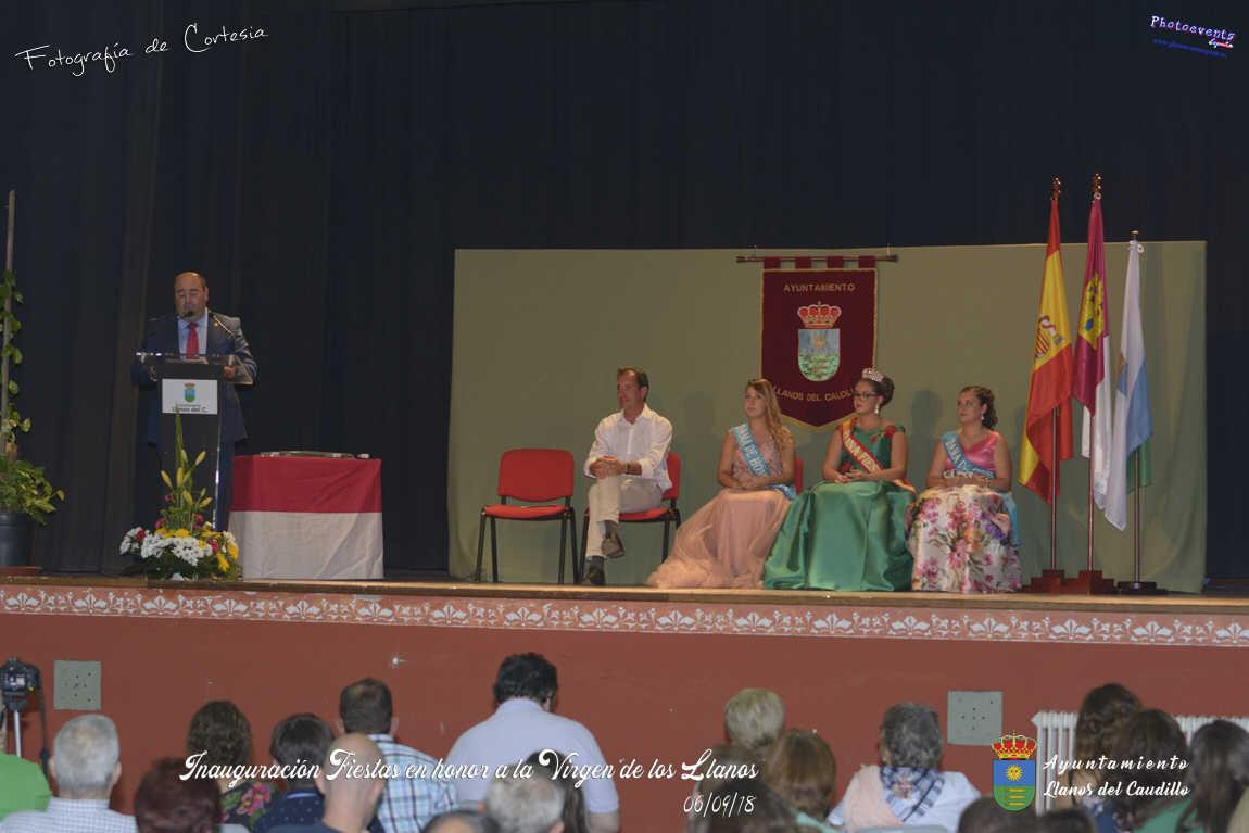 Inauguración de las Fiestas en honor a la Virgen de los Llanos