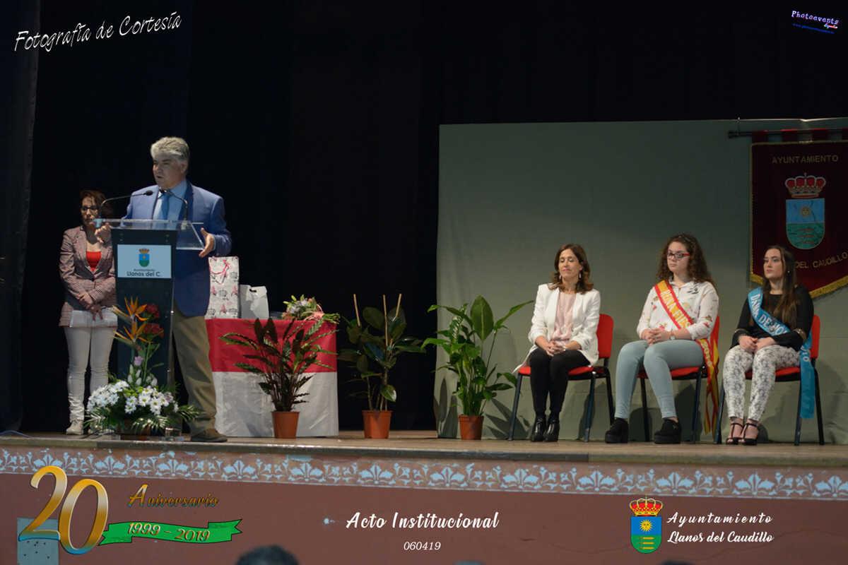 Acto institucional con motivo del 20 Aniversario de Llanos